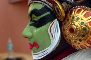 Kathakali artiste from Kerala performing a tourism promotion event in Dubai