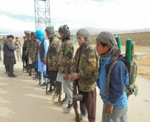 (FILE) Taliban fighters attend a surrender ceremony in Baghlan province, Afghanistan (File)