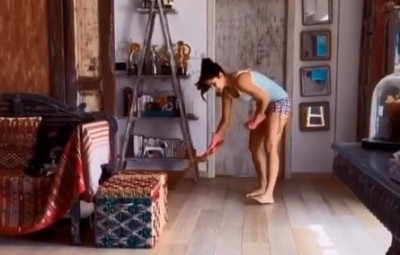 Lockdown diaries: Katrina's brooming session turns into cricket game!.