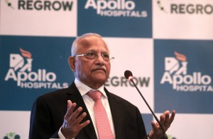 New Delhi: Apollo Hospitals Chairperson Dr Prathap C Reddy during a press conference regarding a revolutionary technology for the treatment of bone and cartilage problems in New Delhi, on June 19, 2017. (Photo: IANS)