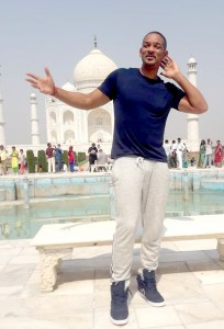 Agra: Actor Will Smith visits the Taj Mahal in Agra on Oct 10, 2018. (Photo: IANS)