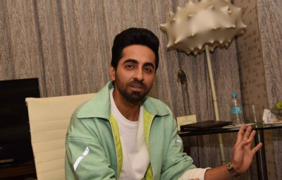 Patna: Actor Ayushmann Khurrana during the promotion his upcoming film 'Shubh Mangal Zyada Saavdhan' in Patna on Jan 22, 2020. (Photo: IANS)