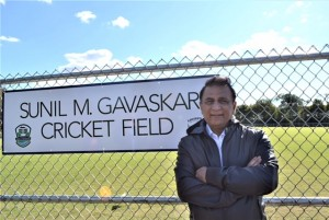 Kentucky: Cricket legend Sunil Gavaskar during the inauguration of a cricket field in Louisville, Kentucky on Oct 26, 2017. The Sunil Gavaskar field will become the first facility outside India to be named after an Indian player. (Photo: IANS)