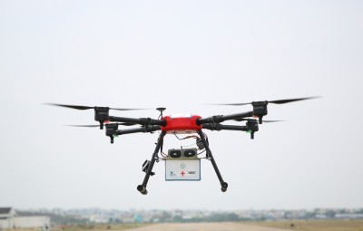 IIT alumni startup deploys drones to disinfect public spaces.