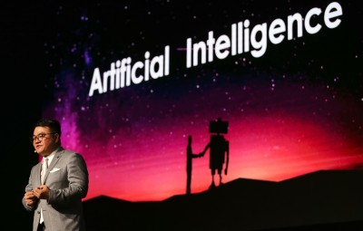Seng Yee Lau, Senior Executive Vice President, Chairman of group Marketing and Global Branding,Tencent  speaks at the AI National Program for Artificial Intelligence conference in Dubai, United Arab Emirates, May 01, 2019.